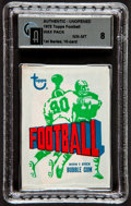Football Cards:Singles (1970-Now), 1972 Topps Football 1st Series Unopened Pack GAI NM-MT 8....