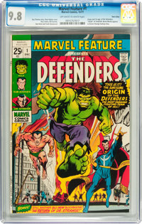 Marvel Feature #1 The Defenders - Twin Cities pedigree (Marvel, 1971) CGC NM/MT 9.8 Off-white to white pages