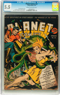 Golden Age (1938-1955):Science Fiction, Planet Comics #22 (Fiction House, 1943) CGC FN- 5.5 Cream tooff-white pages....