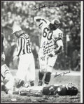 "Football Collectibles:Photos, Chuck Bednarik ""The ***** Game is Over!"" Signed OversizedPhotograph...."