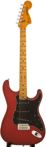 Musical Instruments:Electric Guitars, 1979 Fender Stratocaster Trans Red Solid Body Electric Guitar, Serial # S942570....