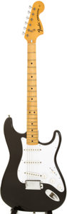 Musical Instruments:Electric Guitars, 1974 Fender Stratocaster Black Solid Body Electric Guitar, Serial #525892....