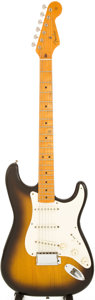 Musical Instruments:Electric Guitars, 1984 Fender Stratocaster Sunburst Solid Body Electric Guitar,Serial # V014405....