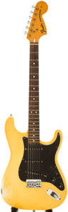 Musical Instruments:Electric Guitars, 1974 Fender Stratocaster Olympic White Solid Body Electric Guitar,Serial # 556043....