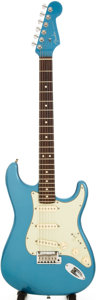 Musical Instruments:Electric Guitars, 2006 Fender Stratocaster Lake Placid Blue Solid Body ElectricGuitar, Serial # Z6110667....