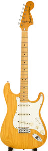 Musical Instruments:Electric Guitars, 1976 Fender Stratocaster Natural Solid Body Electric Guitar, Serial# 666124....