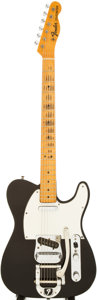 Musical Instruments:Electric Guitars, 1967 Fender Telecaster Black Solid Body Electric Guitar, Serial #206455....