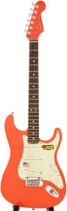 Musical Instruments:Electric Guitars, 2006 Fender Stratocaster Red solid Body Electric Guitar, Serial #Z6119496....