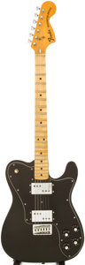 Musical Instruments:Electric Guitars, 1974 Fender Telecaster Deluxe Black Solid Body Electric Guitar,Serial # 655811....