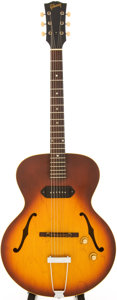 Musical Instruments:Electric Guitars, 1966 Gibson ES-125T Sunburst Semi-Hollow Body Electric Guitar,Serial # 380779....