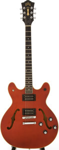 Musical Instruments:Electric Guitars, 1986 Guild Starfire IV Cherry Semi-Hollow Body Electric Guitar,Serial # GA100962....