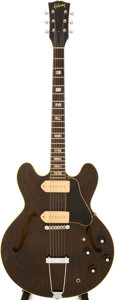 Musical Instruments:Electric Guitars, Late 1960s Gibson ES-330 Walnut Semi-Hollow Body Electric Guitar,Serial # 917657....