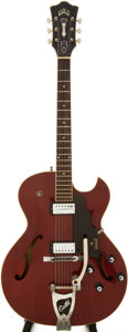 Musical Instruments:Electric Guitars, 1969 Guild Starfire III Cherry Semi-Hollow Body Electric Guitar, Serial # EK3092....