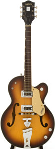 Musical Instruments:Acoustic Guitars, 1968 Gretsch 6117 Sunburst Semi-Hollow Body Electric Guitar, Serial # 88377....