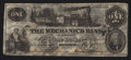 Obsoletes By State:Tennessee, Memphis, TN- Mechanics Bank $1 May 17, 1854. ...
