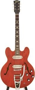 Musical Instruments:Electric Guitars, 1964 Gibson ES-330 Cherry Semi-Hollow Body Electric Guitar, Serial# 130361....