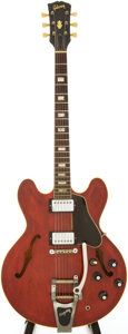 Musical Instruments:Electric Guitars, 1967 Gibson ES-335 Cherry Semi-Hollow Body Electric Guitar, Serial# 370551....