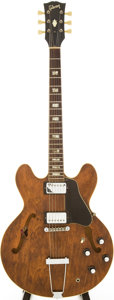 Musical Instruments:Electric Guitars, Early 1970s Gibson ES-335TD Walnut Semi-Hollow Body ElectricGuitar, Serial # 179605....