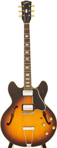 Musical Instruments:Electric Guitars, 1967 Gibson ES-335 Sunburst Semi-Hollow Body Electric Guitar,Serial #056736....