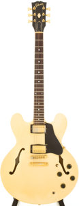 Musical Instruments:Electric Guitars, 1983 Gibson ES-335TD White Semi-Hollow Body Electric Guitar, Serial# 81993544....