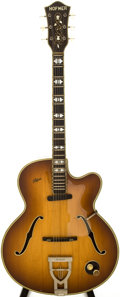 Musical Instruments:Electric Guitars, 1961 Hofner 468S Sunburst Archtop Electric Guitar....
