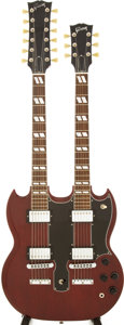 Musical Instruments:Electric Guitars, 1997 Gibson EDS-1275 Cherry Solid Body Electric Guitar, Serial #93017424....