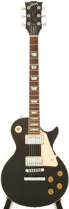 Musical Instruments:Electric Guitars, 1981 Gibson Les Paul Standard Black Solid Body Electric Guitar, Serial # 81551579....