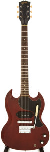 Musical Instruments:Electric Guitars, 1966 Gibson SG Junior Cherry Solid Body Electric Guitar, Serial #700702....