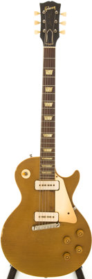 1954 Gibson Les Paul All Gold Solid Body Electric Guitar, Serial # 4 2117