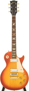 Musical Instruments:Electric Guitars, 1973 Gibson Les Paul Deluxe Cherry Sunburst Solid Body ElectricGuitar, Serial # 137230....