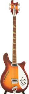 Musical Instruments:Bass Guitars, 1981 Rickenbacker 4005 Sunburst Electric Bass Guitar, Serial # UF2068....