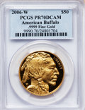 Modern Bullion Coins, 2006-W $50 One-Ounce Gold Buffalo PR70 Deep Cameo PCGS. Ex: .9999Fine. PCGS Population (3989). NGC Census: (14986). Numis...