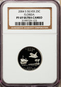 Proof Statehood Quarters, 2004-S 25C Florida Silver PR69 Ultra Cameo NGC. NGC Census: (0/0).PCGS Population (7844/333). Numismedia Wsl. Price for p...
