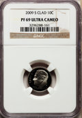 Proof Roosevelt Dimes, 2009-S 10C Clad PR69 Ultra Cameo NGC. PCGS Population (1020/383).Numismedia Wsl. Price for problem fre...