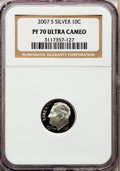 Proof Roosevelt Dimes, 2007-S 10C Silver PR70 Ultra Cameo NGC. NGC Census: (0). PCGSPopulation (440). Numismedia Wsl. Price for problem free NGC...