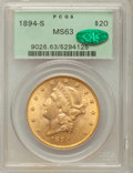 Liberty Double Eagles, 1894-S $20 MS63 PCGS. CAC....