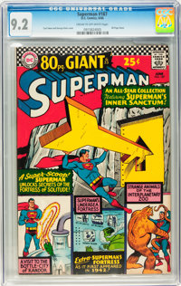 Superman #187 (DC, 1966) CGC NM- 9.2 Cream to off-white pages