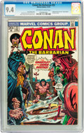 Bronze Age (1970-1979):Adventure, Conan the Barbarian #33 (Marvel, 1973) CGC NM 9.4 Off-white to white pages....