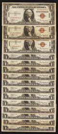 Small Size:World War II Emergency Notes, Fr. 2300 $1 1935A Hawaii Silver Certificates. Fifteen Examples. Fine-Very Fine or Better.. ... (Total: 15 notes)