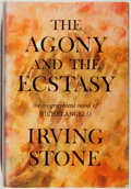 Books:Fiction, Irving Stone. INSCRIBED. The Agony and the Ecstasy.Doubleday, 1961. Signed and inscribed by the author. Very go...