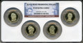 Proof Presidential Dollars, 2010-S $1 Set of Four Presidential Dollars PR69 Ultra Cameo NGC.This set includes: Millard Fillmore, Franklin Pierce, Jame...(Total: 5 coins)
