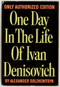 Books:Fiction, Alexander Solzhenitsyn. One Day In the Life of IvanDenisovich. Dutton, 1963. Authorized edition. Very good....