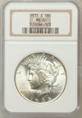 Peace Dollars: , 1935-S $1 MS65 NGC. NGC Census: (412/64). PCGS Population(619/111). Mintage: 1,964,000. Numismedia Wsl. Price for problem...