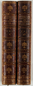 Books:Literature Pre-1900, Samuel Taylor Coleridge. Notes and Lectures UponShakespeare. Volumes I & II. Pickering, 1849. Twelvemo.Contemp...