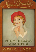 Mainstream Illustration, AMERICAN ARTIST (20th Century). Miss Blanche, High ClassVirginia, Virginia Slims Cigarette advertisement. Oil onmasoni...