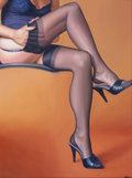 Pin-up and Glamour Art, MIKE S. MALL (Swedish, 20th Century). Legs. Oil on canvas.32 x 24 in.. Signed lower right. ...