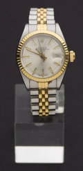 Timepieces:Wristwatch, Rolex Lady's Two Tone For Restoration. ...
