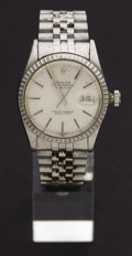 Timepieces:Wristwatch, Rolex Gent's Steel Oyster Perpetual Datejust For Total Restoration. ...
