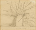 Texas:Early Texas Art - Drawings & Prints, HARRY ANTHONY DEYOUNG (1893-1956). Untitled. Pencil on paper. 7 x 8inches (17.8 x 20.3 cm). Signed lower center. ...