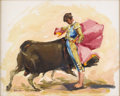 Texas:Early Texas Art - Impressionists, PORFIRIO SALINAS (1910-1973). Untitled Bullfight. Oil oncanvas. 16 x 19-3/4 inches (40.6 x 50.2 cm). Signed lower left...